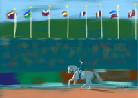 Extended Canter Flags